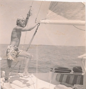Sailing the Kahlua in 1969