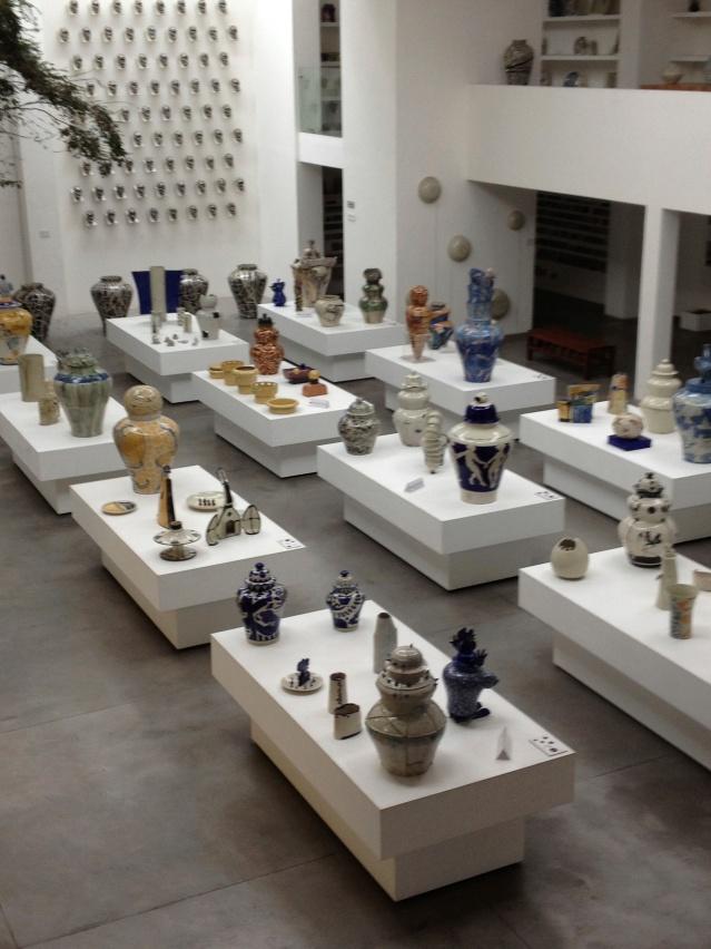Inside the main showroom floor of the Museo de la Talavera at Talavera De La Reyna.