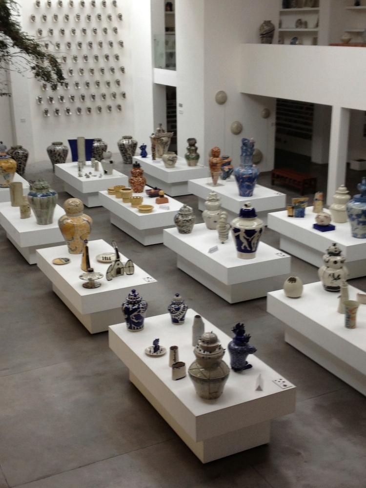 Inside the main showroom floor of the Museo de la Talavera at Talavera De La Reyna.