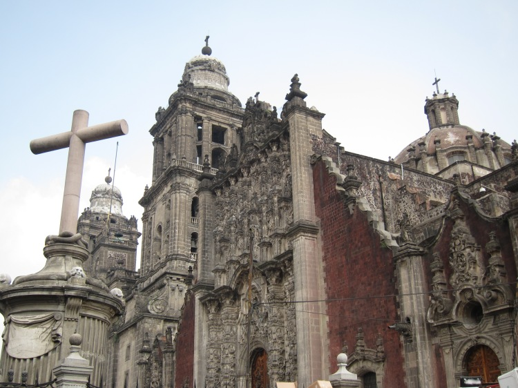 The Metropolitan Cathedral of Mexico, oldest and largest Roman Catholic cathedral in the Americas.