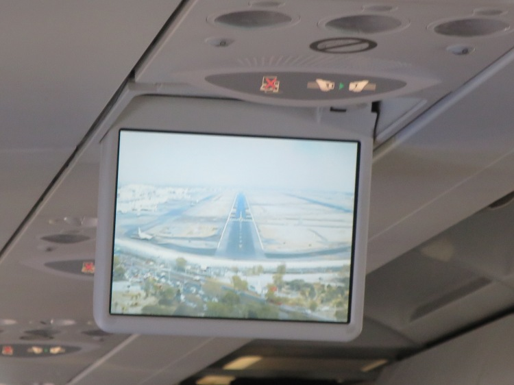 The final approach into the Mexico City International Airport. That's smog, not a dirty video screen.