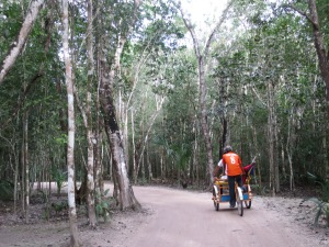 Bicycle taxi in Coba