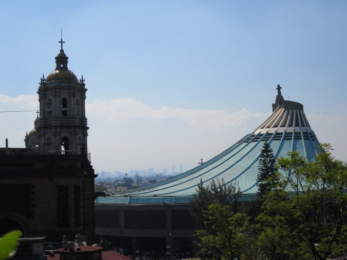 Downtown Mexico City seen from the hill of the Basilica de Guadalupe.