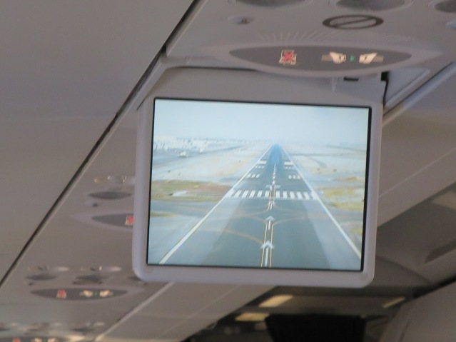 Landing at Mexico City International Airport. That is not a dirty video screen, that is the air.