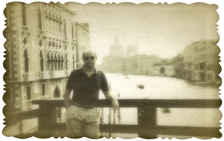 On the Grand Canal, Venice. I think this was 1989.