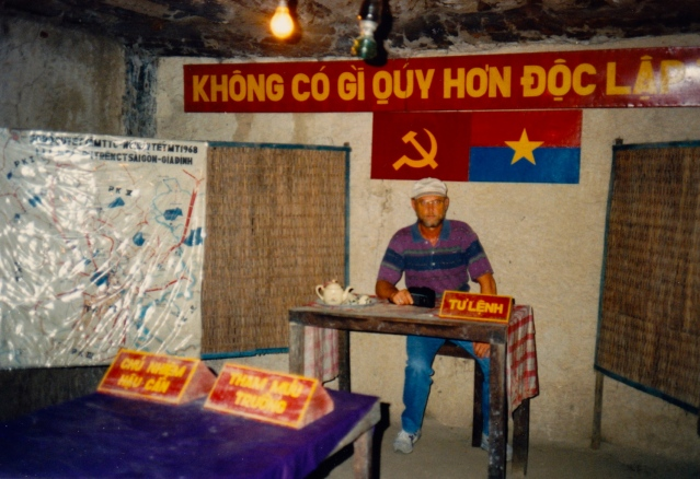 Inside the tunnel complex near Cu Chi, Vietnam. 1993.