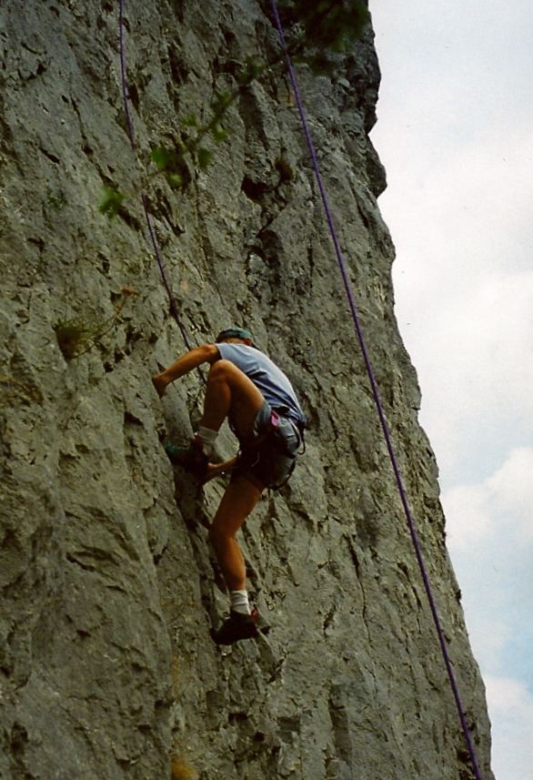 Scamper up and down rock walls. This one near Pajstun, Slovakia, around 1990 or 91.