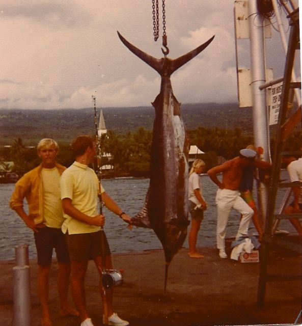 Running a charter big game fishing boat, which I did out of Kona, Hawaii, in 1970.