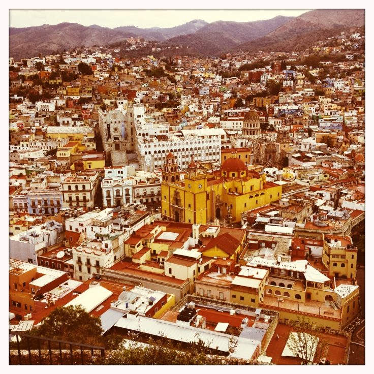 Another overview of the center of Guanajuato, using a camera app that imitates film from the Sixties.