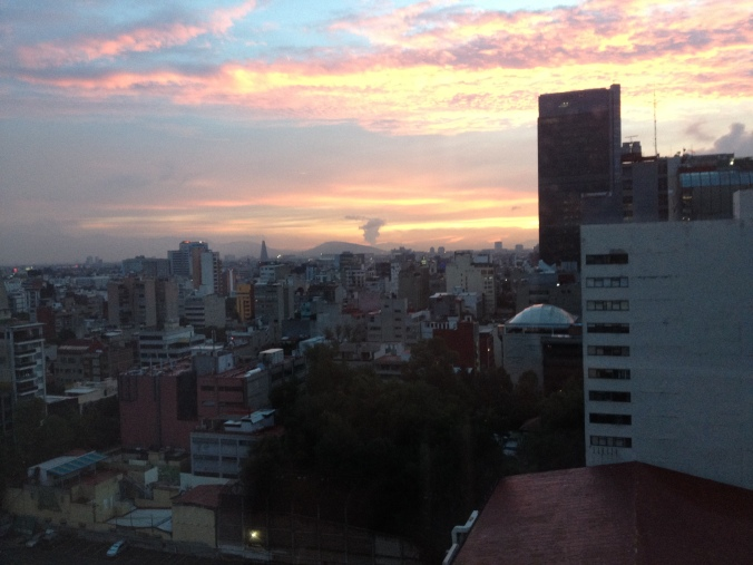 So as the sun sets over the city and Popo plumes, adios Mexico.