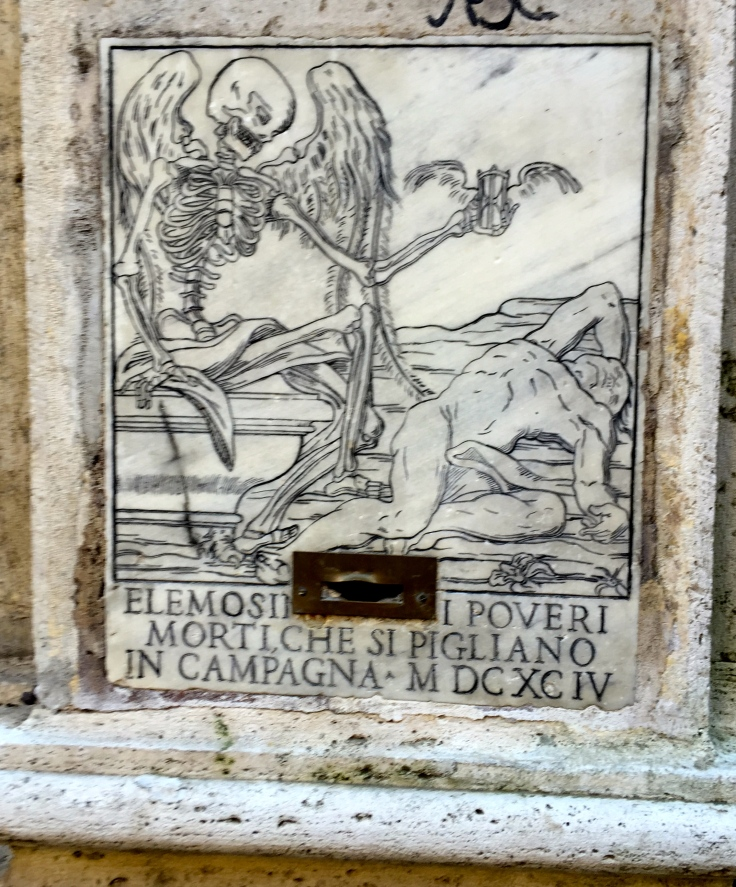 In Rome, death is always there, but if you drop a few coins in the slot, maybe you can get a few more days.