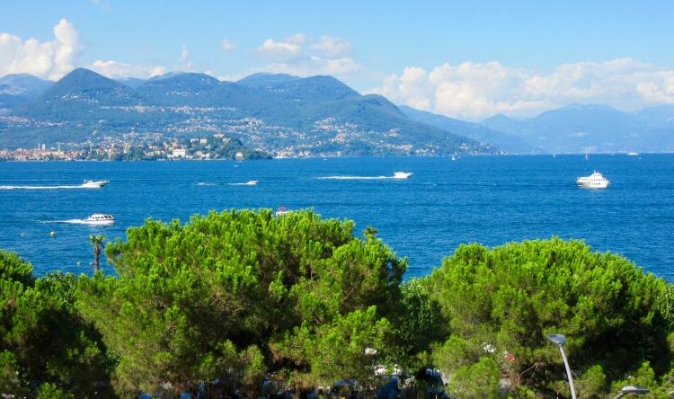View from Stresa of Lago Maggiore.