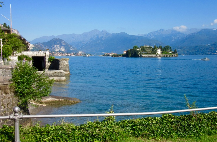 View of Isola Bella, with Fisherman's Island behind. Isola Madre is not seen to the right.