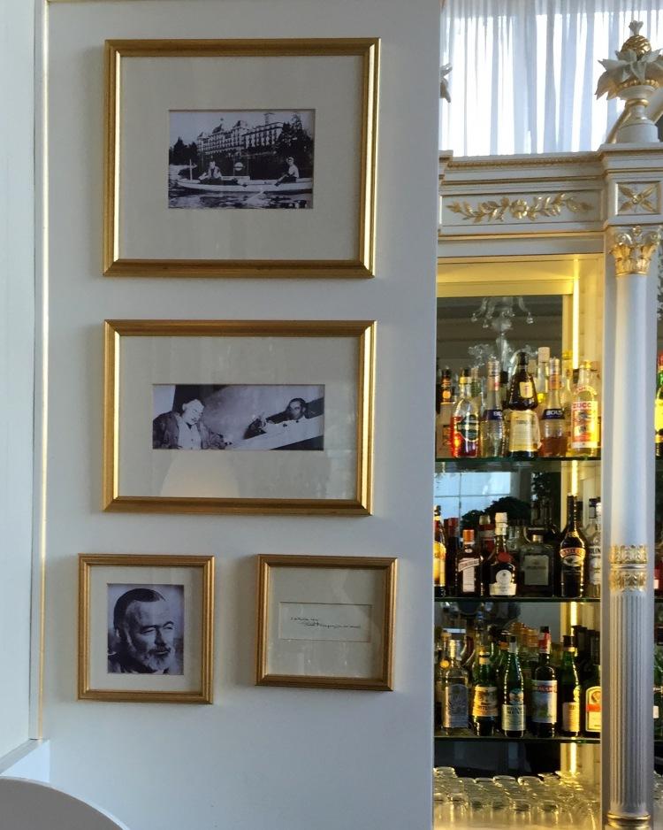 Memories of Hemingway in the hotel bar.