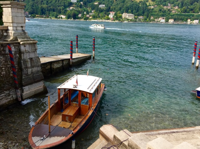 One of the small boat docks on Isola Bella.
